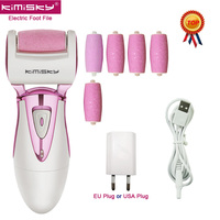 KIMISKY Luxury Rechargeable Electric Exfoliator Callus Remover file for feet Sawing Scholls file Callous Pedicure 5 Roller Heads