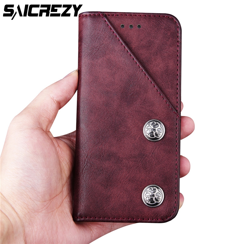 Case For iPhone 8 Plus 5.5 inch PU Leather Wallet Flip Style Kickstand Business Phone Bags Cases For iPhone 7 Plus 5.5 Case