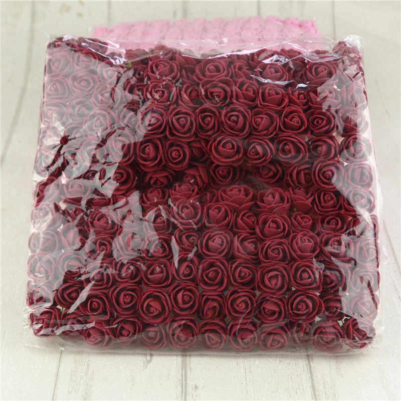 144 قطعة/الوحدة Mini متعدد الألوان Pe الورد الاصطناعي باقة زهور صناعية لوازم ديكورات زفاف للمنزل سكرابوكينغ wreبها بنفسك إكليل ورد صناعي