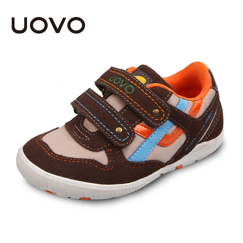 UOVO Low cut suede child sport shoes hoop-and-loop boys shoes breathable casual shoes for mid-age boys flexible kids shoes