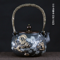 South Korea old iron pot pure hand uncoated cast iron teapots pig iron kettle teapot
