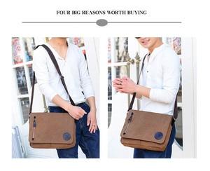 Image 5 - New Arrival Men Laptop Shoulder Bag Mens  Canvas Business Computer Bag luxury Designer Briefcase File package Travel Leisure