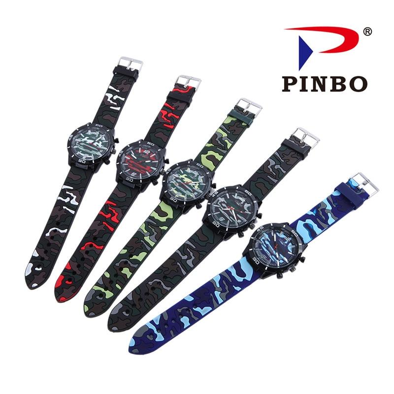 2017 Relogio masculino PINBO Marca Casual Reloj de Cuarzo Hombres - Relojes para hombres - foto 6