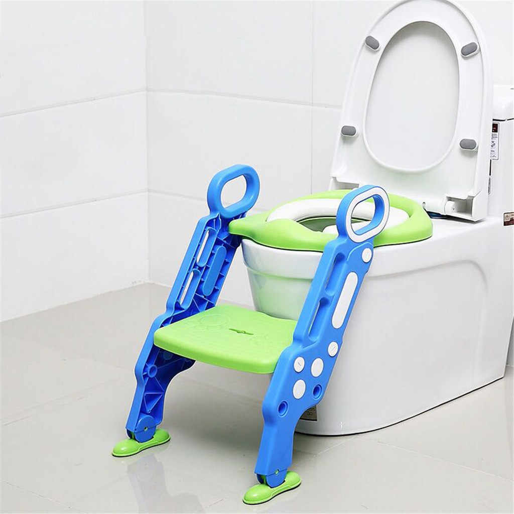 Baby Potty Training Seat Children's Potty Portable Toilet RingLadder Infant Baby Toilet Potty Folding Strong Chair