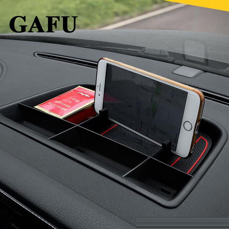 Car accessories Front Central Console Dashboard Storage box Holder For vw tiguan mk1 2011 2012 2013 2014 2015 2016
