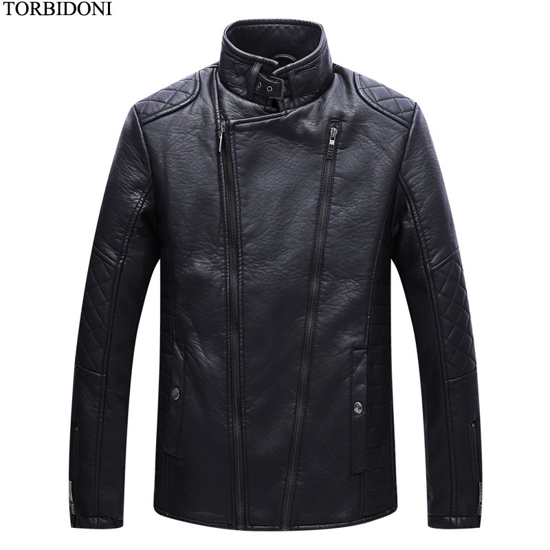 Fashion Week Design Motorcycle Jacket Men Winter Leather Jacket Coat Garment New Casual PU Casaco Masculino Mens Brand Clothing