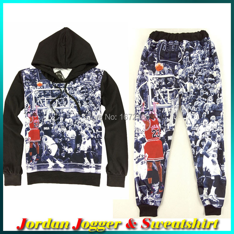 3b007a66a 2015 New 3D Jordan Sweatshirt Men Long Sleeve Black Hoodie Fashion Sport Mens  Jordan Clothing For Women