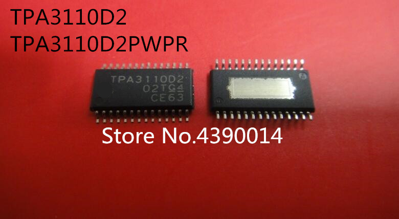 100 adet/grup TPA3110D2 TPA3110D2PWPR HTSSOP28100 adet/grup TPA3110D2 TPA3110D2PWPR HTSSOP28