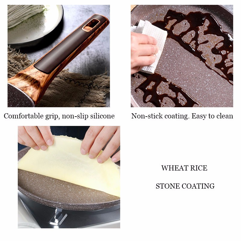 Medical Stone Non-stick Crepe Maker Frying Pan 5