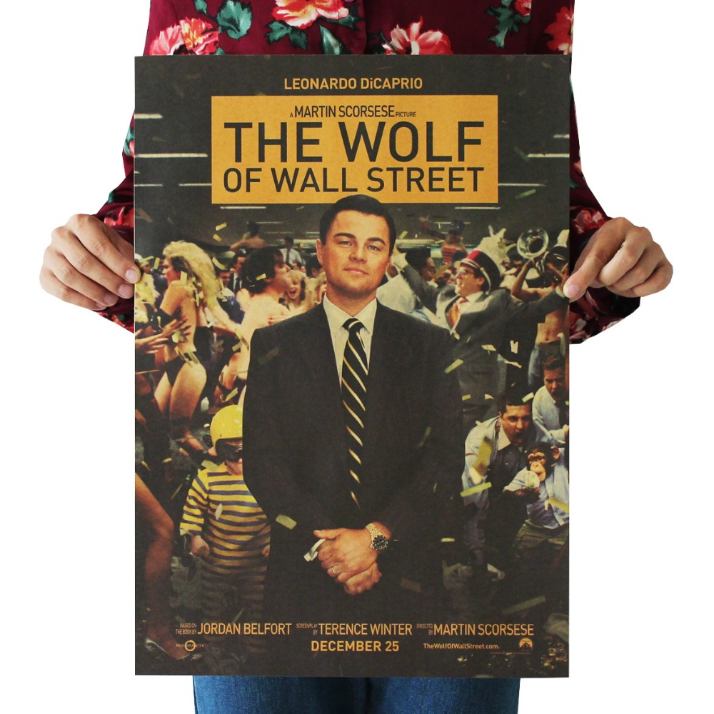 Dicaprio /classic Movie Film Poster/kraft Paper/bar Poster/retro Poster/decorative Painting 51x35.5cm Nourishing The Kidneys Relieving Rheumatism Home Decor Painstaking The Wolf Of Wall Street