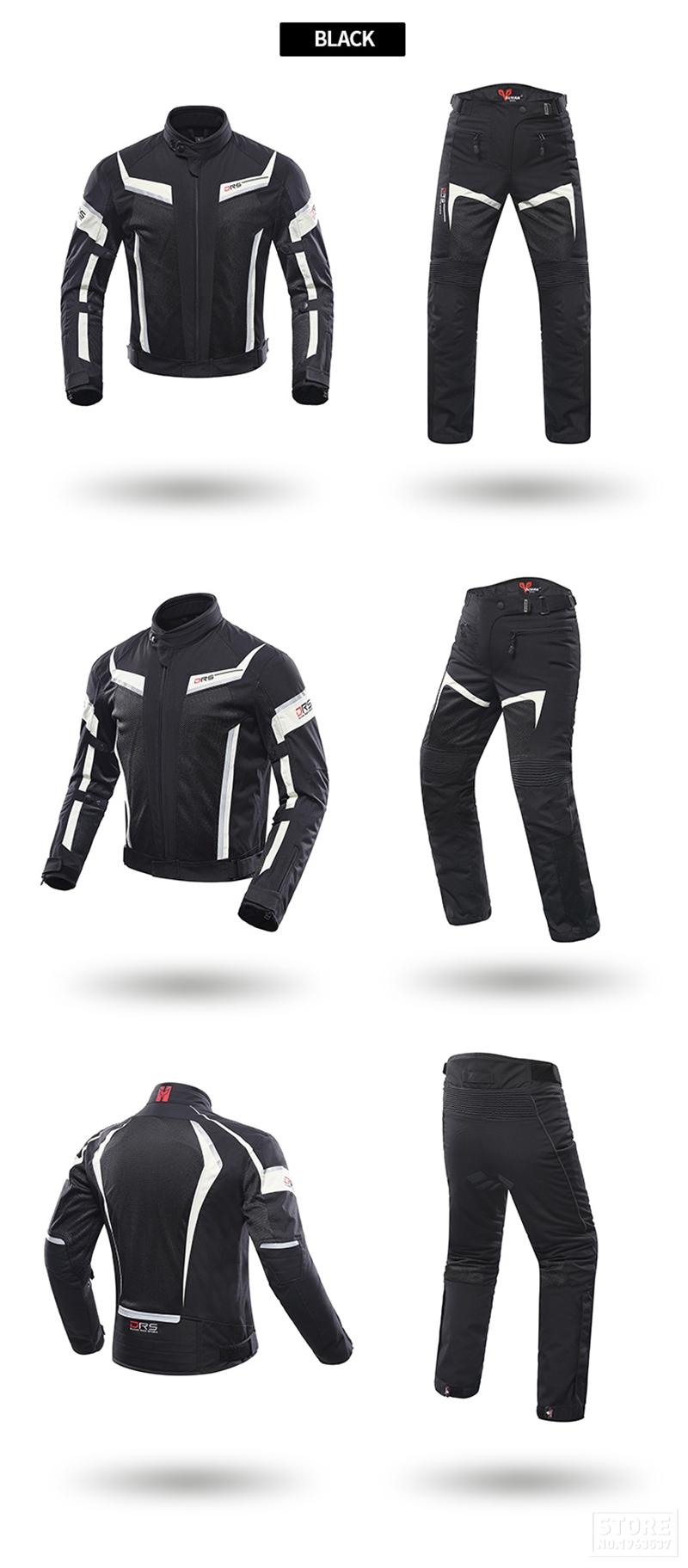 Veste de protection Moto Noir
