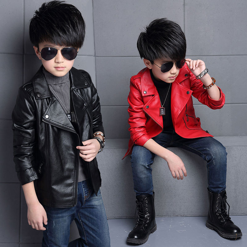 Leather Jacket Black Kids Promotion-Shop for Promotional Leather ...
