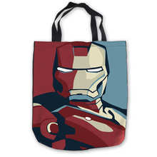 Custom Canvas Iron man Tote Hand Bags Shopping Bag Casual Beach HandBags Foldable 180911-01-21