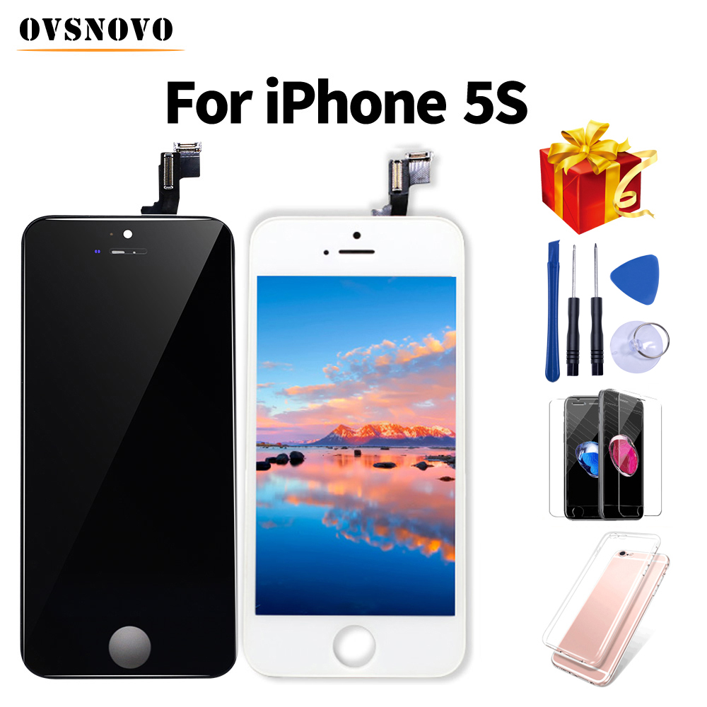 AAA Grade LCD ecran For iPhone 5s Display Touch Screen Digitizer Replacment Assembly Repair Parts+Tempered Glass&Tools+TPU CoverAAA Grade LCD ecran For iPhone 5s Display Touch Screen Digitizer Replacment Assembly Repair Parts+Tempered Glass&Tools+TPU Cover