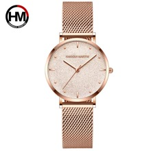 Women Watches New Fashion Stainless Steel Rose Gold Mesh Uni