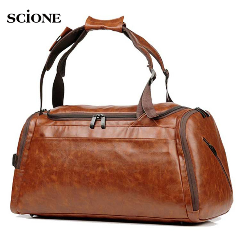 45L Leather Gym Bag Sports Bags Handbags For Fitness Men Training Shoulder Shoes Traveling luggage Sac De Sport Gymtas XA12WA45L Leather Gym Bag Sports Bags Handbags For Fitness Men Training Shoulder Shoes Traveling luggage Sac De Sport Gymtas XA12WA