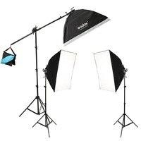Godox TL-5 фотостудия непрерывное освещение трехцветный свет головка + осветительная стойка + софтбокс комплект освещения для фотосъемки