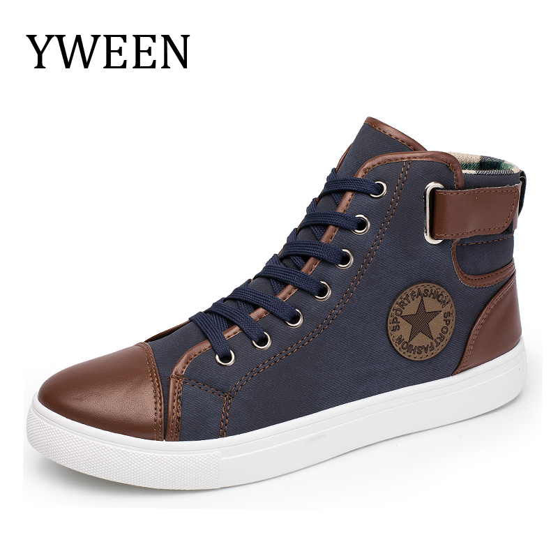 YWEEN Fashion Sneakers For Men Classic Lace-up High Style Vulcanized Flat With Casual Shoes пазлы trefl пазл споем 500 элементов
