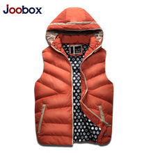 JOOBOX Brand Vest Men 2016 New Fashion Hooded Colete Men High Quality Winter Thickening Warm Male