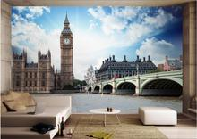 Custom mural 3d photo wallpaper London Thames Big Ben landscape picture painting 3d wall murals wallpaper for walls 3 d цена