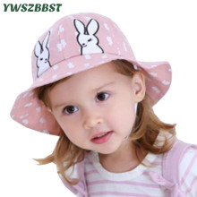 Summer Baby Hat Cotton Infant Hats Cute Rabbit Ear Girls Bucket Cap Autumn Kids Boys Beach Sun