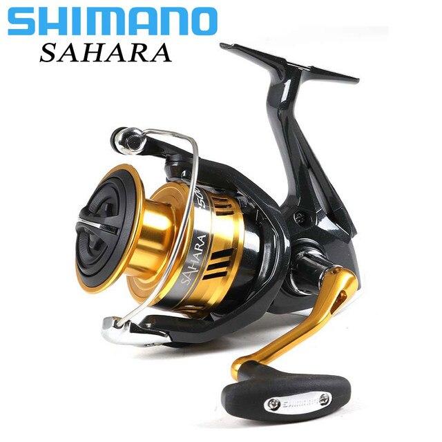 SHIMANO SAHARA 4 + 1BB FI Spinning Reel Fishing 1000 2500 C300 Maior Carretel Capacidade Max 11 kg Arrastar X -o navio Saltewater Carretilhas de Pesca
