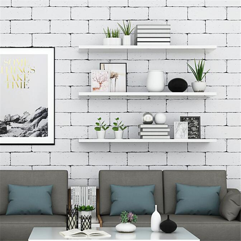 Beibehang Retro Brick Pattern Nordic Style Wallpaper Ins Modern Minimalist Background Wall Paper White Brick Papel De Parede
