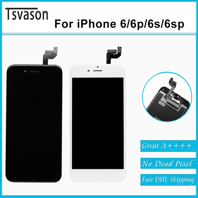 TSVASON New Wholesale for iPhone 6s Plus LCD Touch Screen 10pcs of One Package Black and white Two Colors Good Quality