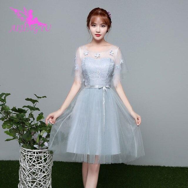 AIJINGYU 2021 2020 فتاة مثير فساتين لحضور الحفلات الموسيقية ثوب المرأة حفل زفاف فستان وصيفة الشرف BN980