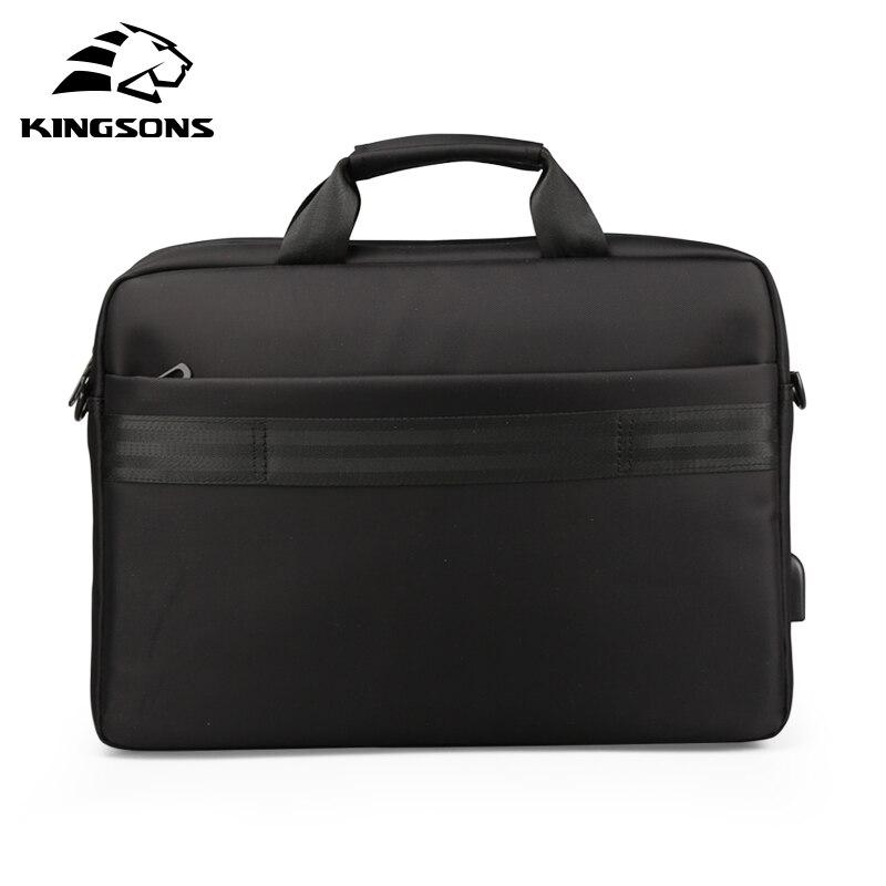 Kingsons sac à main hommes dans sacs à bandoulière pour hommes en Nylon décontracté sac à bandoulière Messenger 15.6 pouces noir - 6