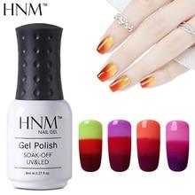 Hnm 8 ml alterar cor das unhas polonês gel camaleão unha polonês vernis Semi Permanente Vernizes Gel UV camada de Base Top Coat Gel Lak Gel(China (Mainland))