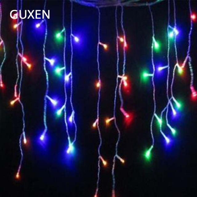 guxen decoration 35m icicle christmas led string fairy light bulb wedding light garland birthday party