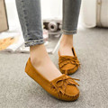 Mrs win Soft PU Leather Women Flats Shoes Casual Lace-up Soft Loafers Spring Autumn Female Driving Shoes dames schoenen