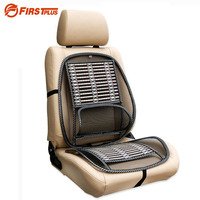 Black Ice Silk Car Seat Lumbar Support Summer Breathable Seat Covers With Waist Cushion