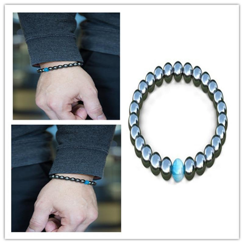 Cool Magnetic Bracelet Beads Hematite Stone Therapy Health Care  Magnet   Bracelets Men's Jewelry