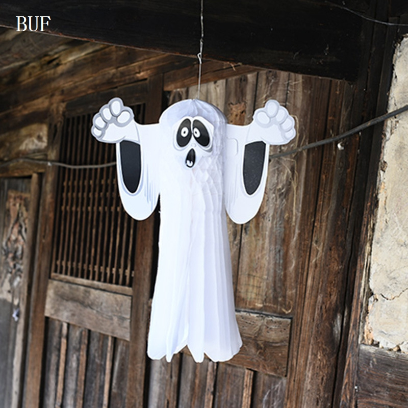 buf halloween party home decoration accessories hangning ghost party ornaments halloween paty house wall adornment - Halloween Decoration Sales