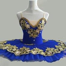 をロイヤルブループロのバレエチュチュ子供キッズガールズバレエチュチュ adulto 女性バレリーナパーティーバレエ mujer 衣装