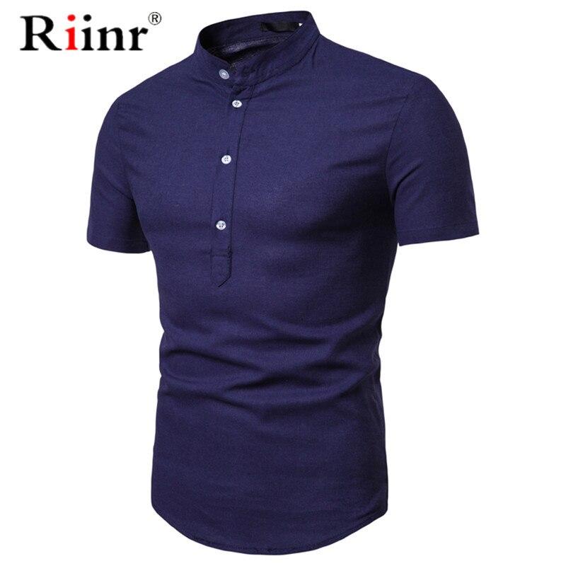 100% Wahr Hemd Männer 2019 Marke Neue 100% Baumwolle Kurzarm Herren Hemden Casual Slim Fit Weiche Chemise Homme Camisa Masculina Moderne Techniken