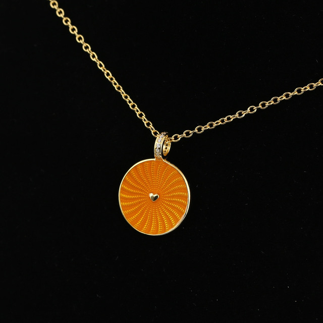 2018 spring 925 sterling silver original pan gold rays of sunshine pendant necklace with clear cz