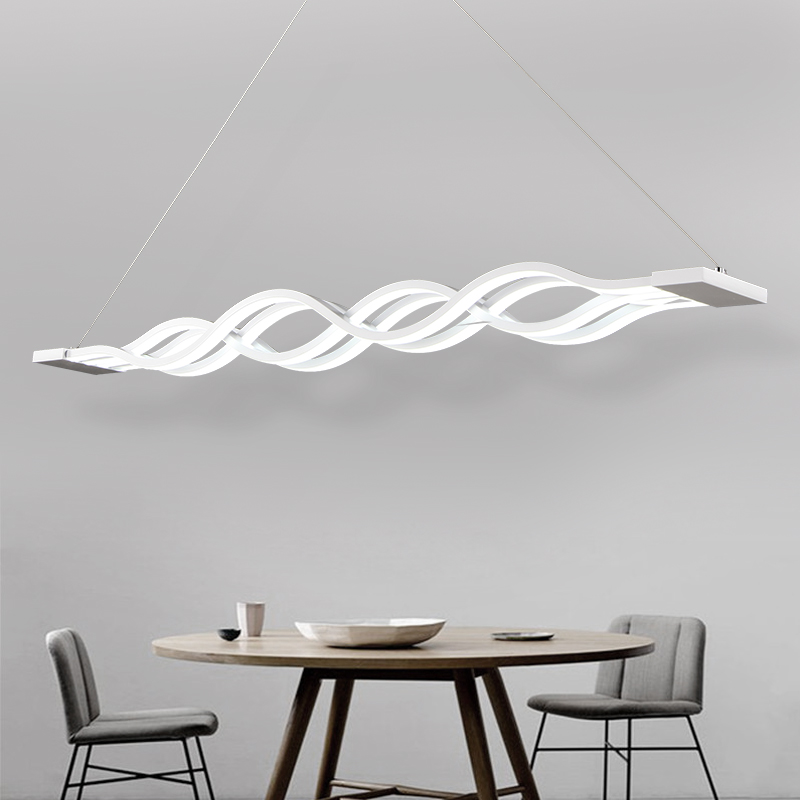 Led dining room lamp modern minimalist living room chandelier creative atmosphere of the Office of the rectangle chandeliers бордюр as creation swing line 93471 2