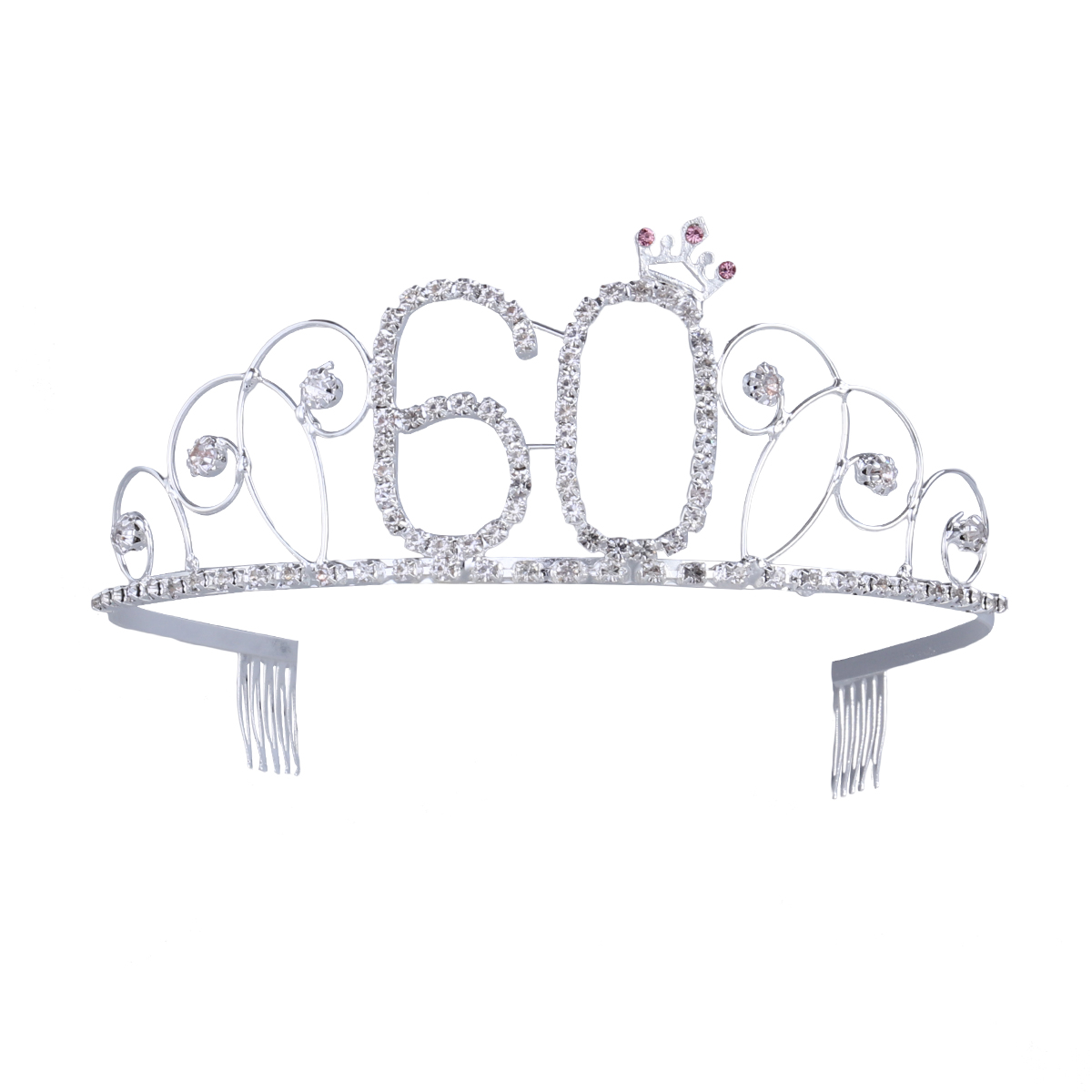 60th Birthday Tiara Crystal Rhinestone Birthday Tiara