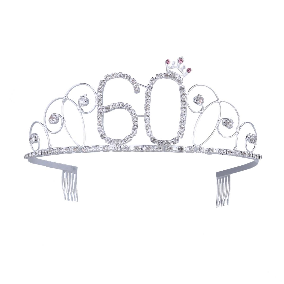 60th Birthday Tiara Crystal Rhinestone Birthday Tiara