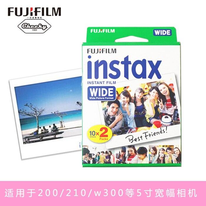 Original Fujifilm Instax Instant large Film 60 feuilles blanches Film instantané pour Polariod 300 200 210 100 500AF - 3
