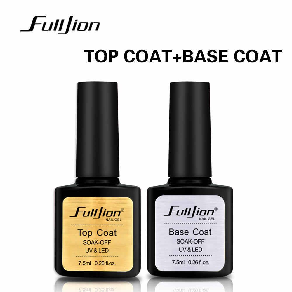 Fulljion Base capa superior transparente arte de uñas Gel esmalte de uñas UV LED remojo de larga duración Primer laca manicura de uñas barniz