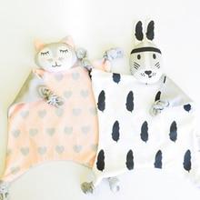 Soft Newborn Baby Velvet Rabbit Sleeping Dolls Bunny giraffe