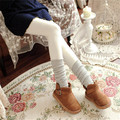 Japanese Cashmere Knit Women Pantyhose Spring Autumn Winter Warm Slim Plus Thick Velvet Cotton Tights Solid Free Size