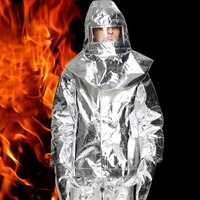 1000CentigradeAluminum foil clothing Fire Fighting suit fireman outside suit high tempreature protective Radiation proof clothes