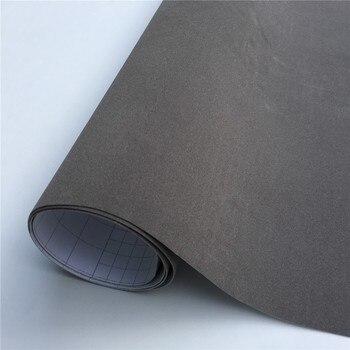 Película de envoltura de vinilo de ante gris para envolver vehículos sin burbujas para Auto película coche pegatina consola computadora cubierta de piel