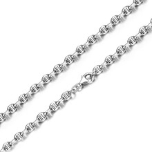 Solid AU750 White Gold Men Necklace Chain Heavy gold Necklace chain