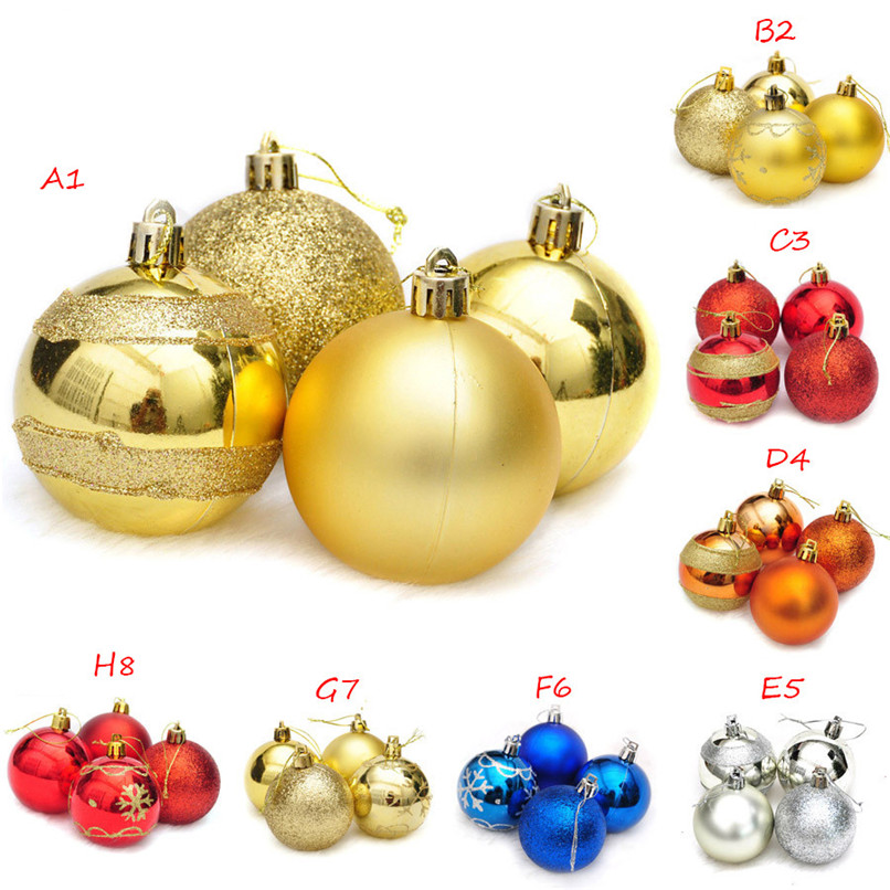 4Pcs Christmas Balls Baubles Party Xmas Tree Decorations